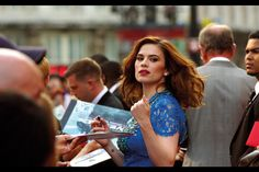 'You're nicked!' Hayley Atwell at the 'The Sweeney' premiere, Leicester Square, London. 3rd September 2012