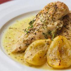 Kuřecí prsa na citronu s tymiánem Food And Drink, Chicken, Meat, Lemon, Cubs