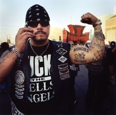 """Mongols M.C."" photo series by Patrick Simpson, via Behance. Never knew there was a motorcycle club (founded in 1969) named after the Mongol Empire. More here: http://www.mongolsmc.com/sub/history"