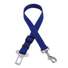 Adjustable Dog Cat Pet Car Safety Seat Belt Red Blue Black Army Green