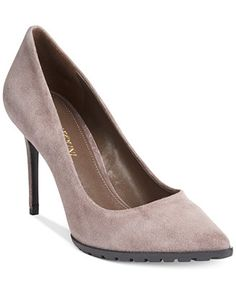 Grey suede or raisin - Enzo Angiolini Issax Lug Pumps - Shoes - Macy's