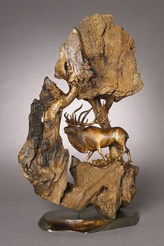 """Gladiator of the Glade"" - Bull Elk, silver medal award winner by Terry Woodall"