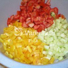 Fotografie receptu: Zeleninový salát s vejci Fruit Salad, Food, Fruit Salads, Essen, Meals, Yemek, Eten