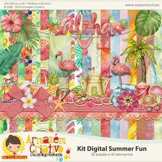 Kit digital Summer Fun - Armazém Criativo