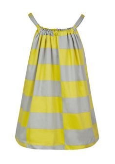 Floaty top in pineapple squares..loving the grey and yellow