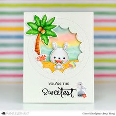 Handcrafted Cards Made With Love: Mama Elephant Stamp Highlight: SWEETEST GREETINGS