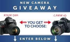 DSLR Giveaway: Canon 6D or Nikon D800