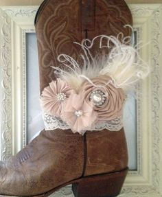Champagne Bridal Boot Bracelet Country Chic Wedding. by LovCouture, $29.00