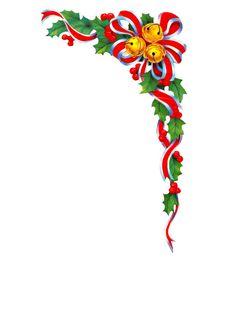 Christmas Holly Border Vector Image On