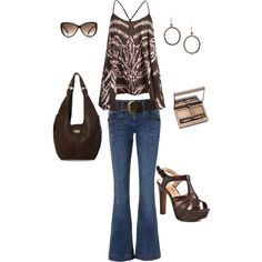 Browns, created by brandy-bozeman-dyess on Polyvore