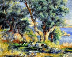 Pierre Auguste Renoir - Landscape on the Coast, near Menton at Boston Museum of Fine Arts   by mbell1975