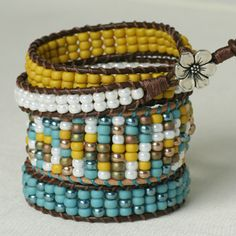 how-to video: stackable ladder bracelet ♥ {beadshop}