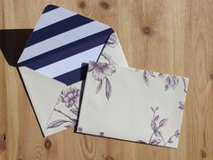 Lined Wedding Envelopes  purple envelopes by TheCraftyRedButton