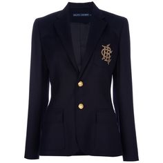 RALPH LAUREN BLUE 'GREENWICH' blazer (25.650 RUB) ❤ liked on Polyvore featuring outerwear, jackets, blazers, coats, tops, blue jackets, ralph lauren blue label, blue blazer jacket, navy blue blazer and blazer jacket