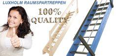LUXHOLM Treppenshop - Raumspartreppen, Leitern, Wangentreppen, Mittelholmtreppen…