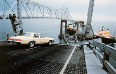 Collapse Skyway Sunshine Silver Bridge. May 9, 1980 a tanker plows into bridge in foggy conditions during morning rush hour. 30 people died.