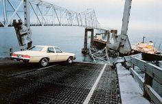 Sunshine Skyway Bridge Disaster | Sunshine Skyway Bridge after the collapse.