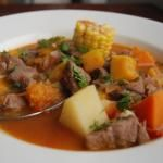 Cazuela de vacuno// Chilean beef stew. Boil all the ingredients to make this yummy stew. I use sweet potato if you can't find pumpkin.