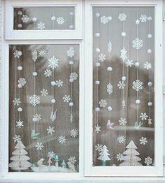 decoraciones navideñas para la ventana
