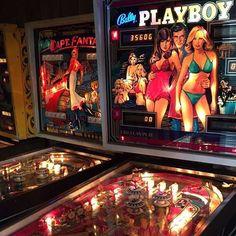 My friend let me play his pinball machines yesterday. #pinballmachine #playboy #eltonjohn #captfantasy