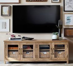 Parker reclaimed wood media console pottery barn rh potterybarn com pottery Counter Strike Cs Go, Reclaimed Wood Media Console, Pottery Barn Media Console, Entertainment Center Redo, Entertainment Products, Entertainment System, Tv Decor, Home Decor, Diy Tv