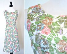 1950s Wiggle Dress Lace Cocktail Dress ILGWU by YellowBeeVintage