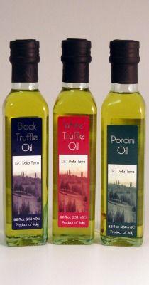 Truffle and Porcini Trio, Infused Olive Oils - Olive Oil - Olio2go - Italy's Finest Olive Oil    $61.95 #oil #olio2go #italian
