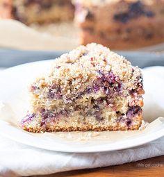 Blueberry Sour Cream Coffee Cake - Full Cravings