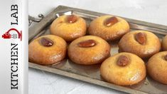 Sekerpare -Semolina cookies in syrup by the Greek chef Akis Petretzikis. Make easily and quickly a tasty recipe for traditional syrupy cookies with almonds! Greek Desserts, No Cook Desserts, Greek Recipes, Dessert Recipes, Macedonian Food, Food And Drink, Latte, Peach, Cooking Recipes