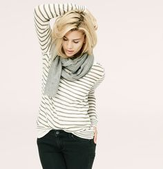 Lou & Grey Mixstripe Sweater | Loft