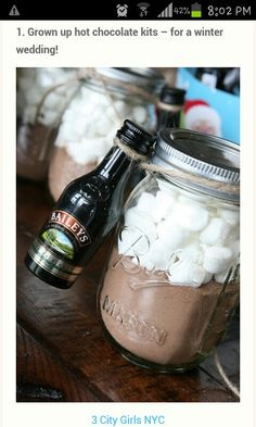 adult hot cocoa party favors