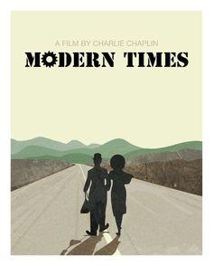 Modern Times Charlie Chaplin Paulette Goddard Minimal by MunaMia
