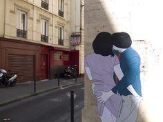 Les couples amoureux de Claire Streetart | Millardiz.fr