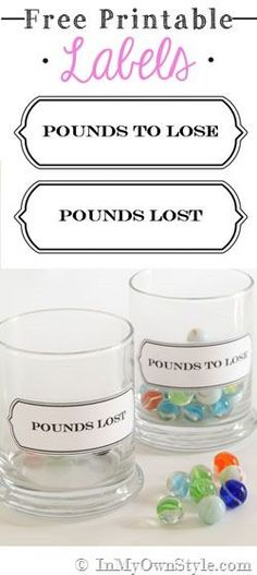 Watch those pounds melt away with this fabulous idea and free printable for weight loss by In My Own Style