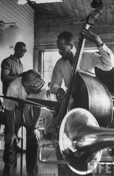 Lenox Jazz Workshop (bassist Percy Heath). [1959]. photo by Alfred Eisenstaedt