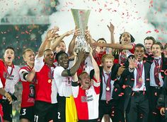 My favorite Dutch soccer team, Feyenoord from Rotterdam, wins the EUFA Cup in 2002 in their own stadium, the iconic 'De Kuip'. Their motto 'Geen woorden maar daden', or loosely transleted 'Action, not words!'.