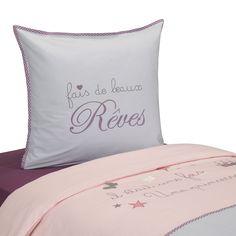 Tente de lit mi haut pour enfant rose et gris princesse - Alinea linge de maison ...