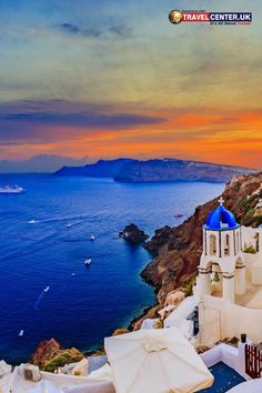 It's great to see the dark blue sea blending in with the orange skyline and even greater to see that this is in Santorini, Greece. If your question is sunsets, the answer is Greece. #sunset #santorini #travelgreece #orange #itsallabouttravel #travelcenteruk
