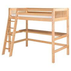 Camaflexi Mission Headboard High Loft Bed with Desk