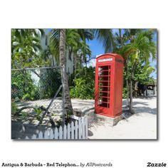 Antigua & Barbuda - Red Telephone Box Cartes Postales