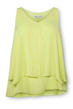 Exclusive: Every Pic From Target's New Plus Line, AVA & VIV #refinery29  http://www.refinery29.com/2015/01/81102/target-plus-size-lookbook-ava-viv#slide-31  AVA & VIV Blouse in Green, $24.99, available at Target....