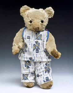 Mohair plush teddy bear made in England by Merrythought about 1935