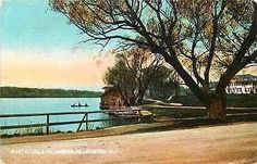 Lakewood New Jersey NJ 1905 Lake Carasaljo Boat House Antique Vintage Postcard