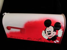 Hand painted mailbox Mickey mouse...for the Disney lover.