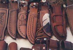 leather knife sheath   Leathersmith - Shell Belts, etc.