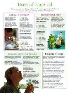 Uses of sage oil