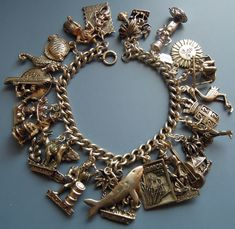 eCharmony Charm Bracelet Collection - Vintage Silver Island Charms 2