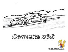 free printout corvette z06 rear view at yescoloring tattoo ideas