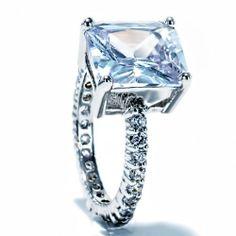 5 Carats Emerald Cut Cz Cubic Zirconia Eternity Band Accent Bridal Wedding Ring FlameReflection. $22.99