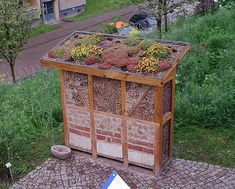 inspiration:  insect hotel (here: in the city of Nordhausen, at the garden exhibition in 2003, Germany)